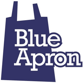 Blue Apron food delivery logo.