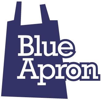 Blue Apron food delivery logo.