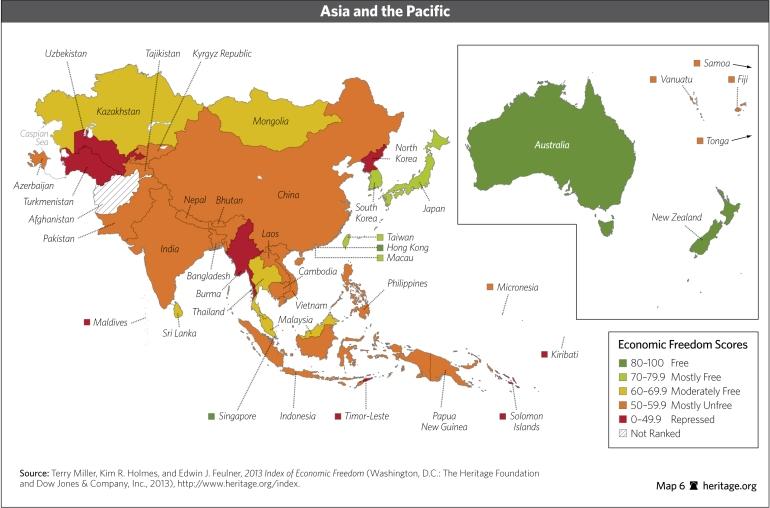 central asia economic freedom scores