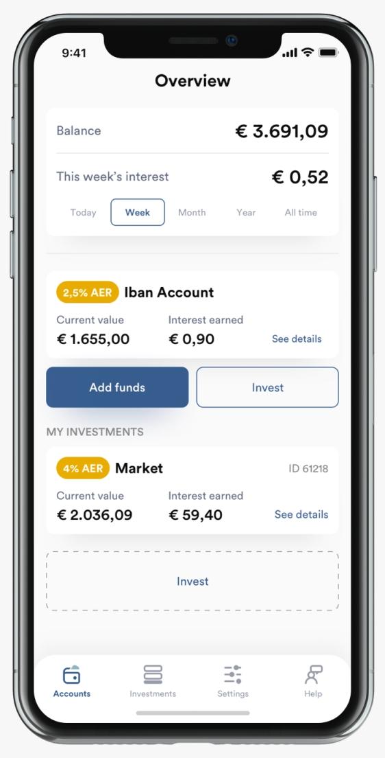 iban wallet app screen