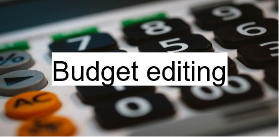 budget editing service