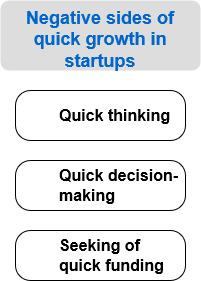negatives of quick growth startups
